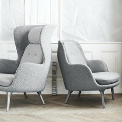 Jaime Hayon Ro Chair and Fri Chair Light Grey Side by Side in Room