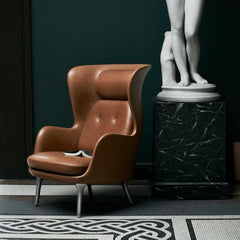 Jaime Hayon Ro Chair Elegance Leather Walnut in Room Fritz Hansen