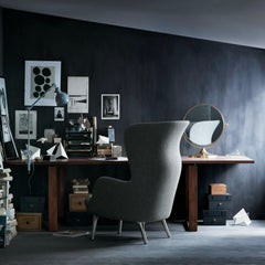 Jaime Hayon Ro Chair Light Grey Desk Fritz Hansen