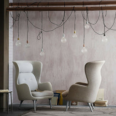 Fritz Hansen Ro Chairs Light Grey and Taupe in Loft