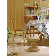 Jasper Morrison Cork Stool in Room with Leather HAL Chair Vitra