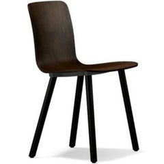 Jasper Morrison HAL Ply Wood Chair Dark Oak Seat Dark Oak Base Vitra