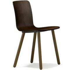 Jasper Morrison HAL Ply Wood Chair Dark Oak Seat Natural Oak Base Vitra