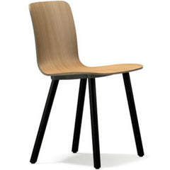 Jasper Morrison HAL Ply Wood Chair Light Oak Seat Dark Oak Base Vitra