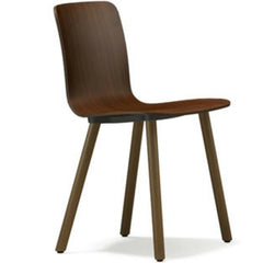 Jasper Morrison HAL Ply Wood Chair Walnut Seat Natural Oak Base Vitra