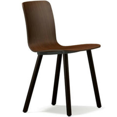 Jasper Morrison HAL Ply Wood Chair Walnut Seat Walnut Base Vitra