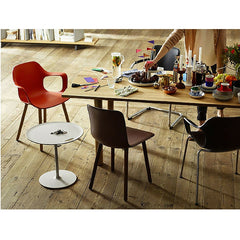 Jasper Morrison HAL Wood Armchair at Barber Osgerby Wood Table along with Hal Leather Chair Vitra