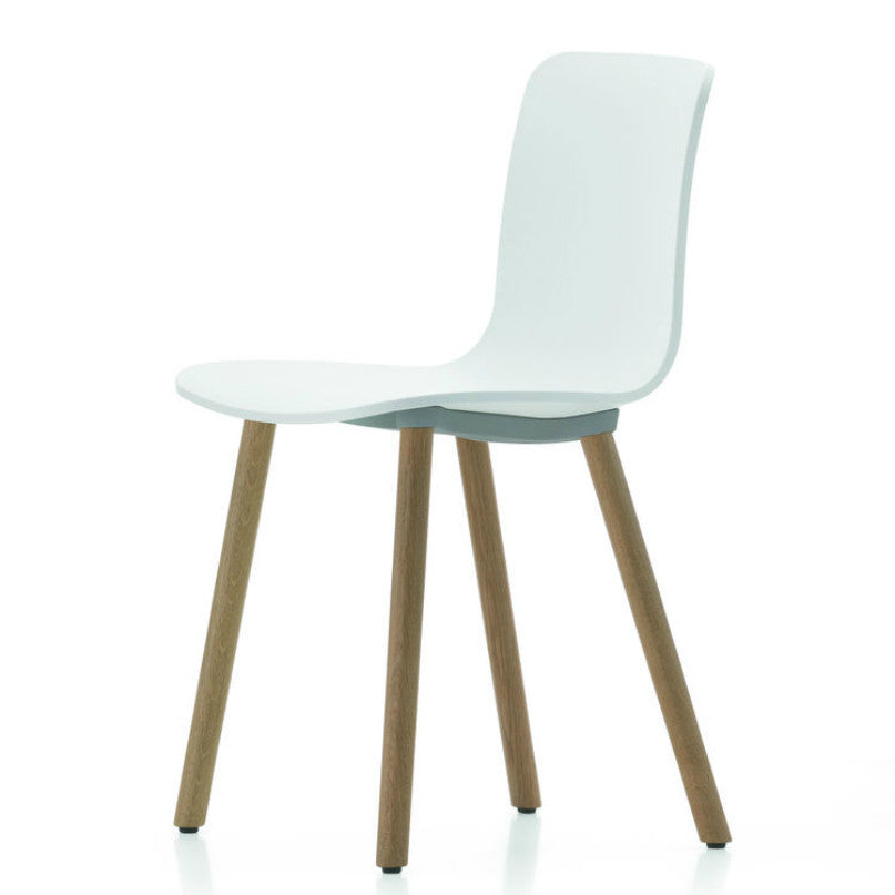 Jasper Morrison HAL Wood Chair White Seat Natural Oak Base Vitra