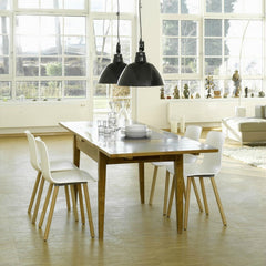 Jasper Morrison HAL Wood Chairs White Seat Natural Oak Base Dining Table Vitra