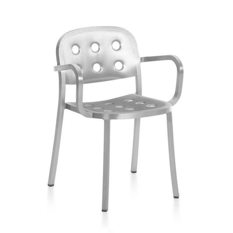 Emeco 1 Inch All Aluminum Chair and Armchair