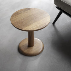 "17"" Diameter Smoked Oak Pon Table by Jasper Morrison for Fredericia"