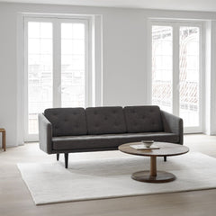 "Pon Smoked Oak 35""Ø Coffee Table with No. 1 Sofa by Fredericia"