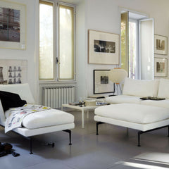 White Plate Table by Jasper Morrison with Antonio Citterio Suita Sofa and Chaise Lounge from Vitra