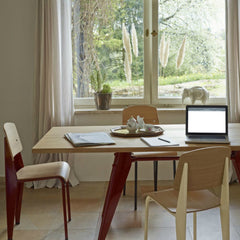 Jean Prouvé Standard Chairs With EM Table Vitra