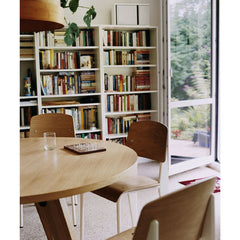 Prouve Gueridon Table in Library with Standard Chairs Vitra