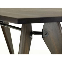Jean Prouve Table Solvay Smoked Oak Detail Vitra