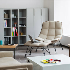 Jehs + Laub Lounge Chair with Leather Piping from Knoll