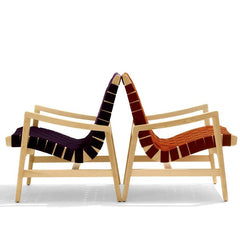 Jens Risom Maple Armchairs Back to Back Knoll