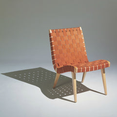 Jens Risom Lounge Chair Maple Burnt Orange Shadow Knoll