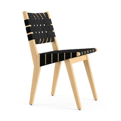 Jens Risom Side Chair Maple Black Profile Knoll