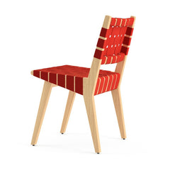 Jens Risom Side Chair Maple Red Back Knoll
