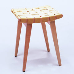 Jens Risom Sitting Stool Maple Mize Knoll