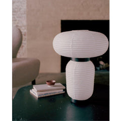 And Tradition JH18 Formakami Table Lamp by Jaime Hayon in living room closeup