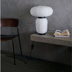 And Tradition JH18 Formakami Table Lamp by Jaime Hayon in room with Andersen Voll Pavillion Chair