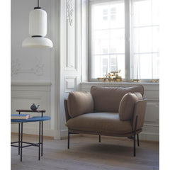And Tradition JH3 Formakami Pendant Light by Jaime Hayon Styled in Room with  Luca Nichetto Cloud Chair