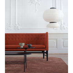And Tradition JH5 Formakami Pendant Light in room with Mayor Sofa and Palette Coffee Table