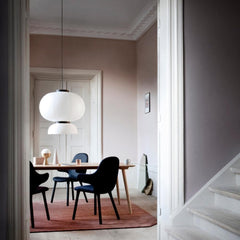 And Tradition JH5 Formakami Pendant Light by Jaime Hayon in Dining Room with Catch Chairs