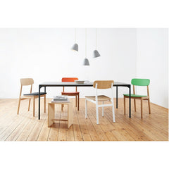 Jjoo Design Tilt Small Pendant White Grouping over Dining Table Nyta Ameico