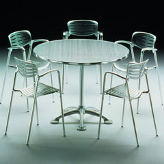 Knoll Pensi Cafe Table with Toledo Chairs Indoor Studio Shot