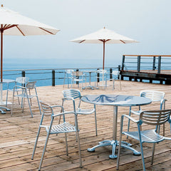 Jorge Pensi Round Cafe Table Toledo Chairs Ocean Outdoors Knoll