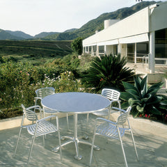 Jorge Pensi Toledo Chairs in Situ in Desert with Bistro Table Knoll