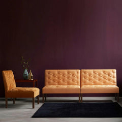 Kaare Klint Addition Sofa KK48650 Carl Hansen and Son in Goat Leather in Dark Raspberry Room