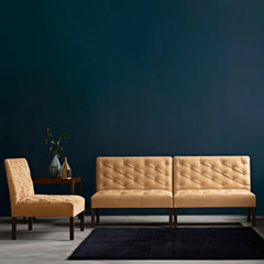 Kaare Klint Addition Sofa KK48650 Carl Hansen and Son in Goat Leather in Deep Teal Room