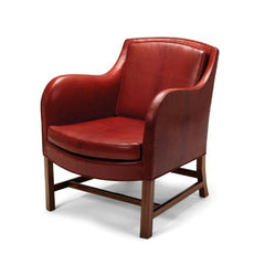 Kaare Klint Mix Chair by Carl Hansen and Son KK43960 Red Leather