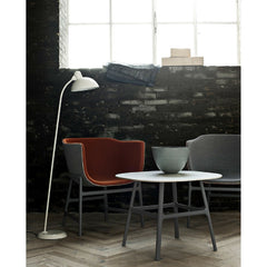 Kaiser Idell Tilt Floor Lamp in Room with Cecilie Manz Miniscule Chairs