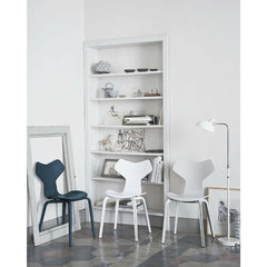 Kaiser Idell Luxus Floor Lamp White in Room with Grand Prix Chairs