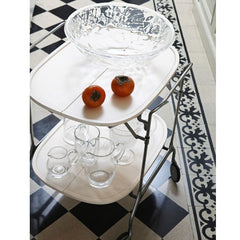 Kartell Gastone Trolley by Antonio Citterio in situ with persimmons