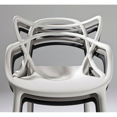 Kartell Masters Chairs by Philippe Starck White Grey Black Stacked