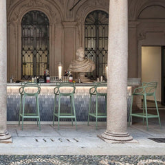Kartell Masters Bar Stools in bar in Italy