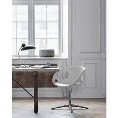 Kaiser Idell Luxus Table Lamp Matte Black in room with Rin Chair