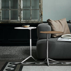 Kasper Salto Little Friend Tables White Laminate Oak Veneer Fritz Hansen