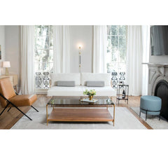 Katy Skelton Charleston Forge Amalie Ottoman in Living Room