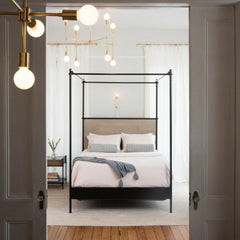Charleston Forge Katy Skelton Collins Bed in Bedroom With Katy Skelton Lighting