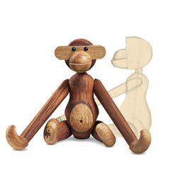 Kay Bojesen Monkey with original line drawing