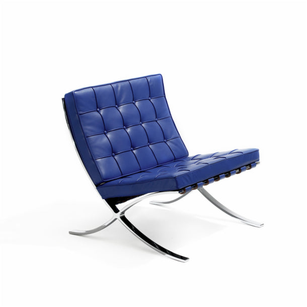 Kids Barcelona Chair Blue Mies Van Der Rohe For Knoll Kids Collection