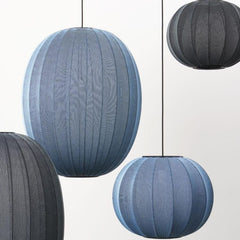 Knit Wit Pendant Lights by Isksos Berlin for Made by Hand in Blues and Greys
